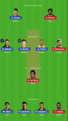 AUS vs SL Dream 11 Team | SL vs AUS