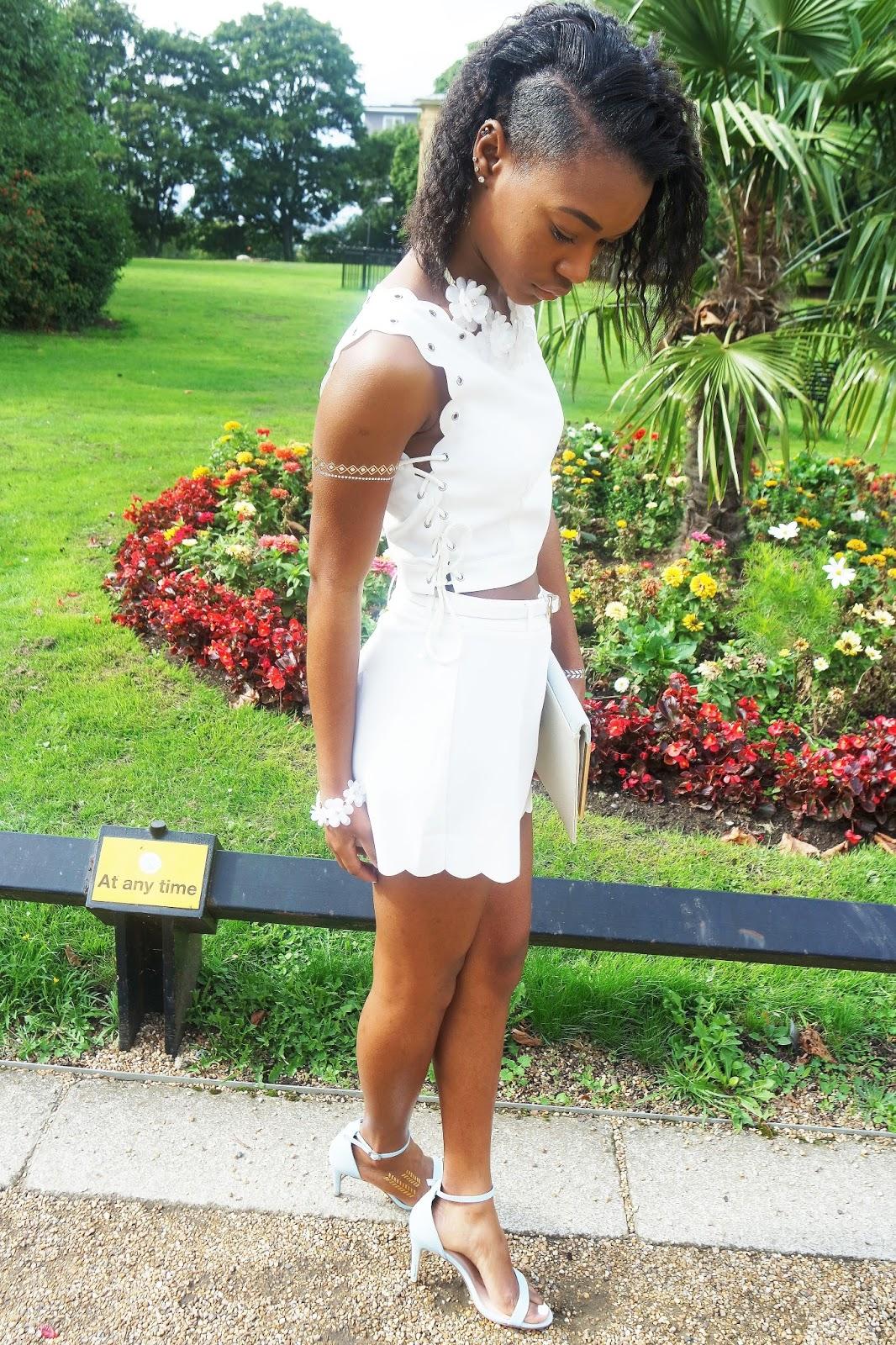 Tashika Bailey | Luxemme Eyelet Lace Up Two Piece