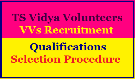Telangana Vidya Volunteers Qualifications and Selection Procedure