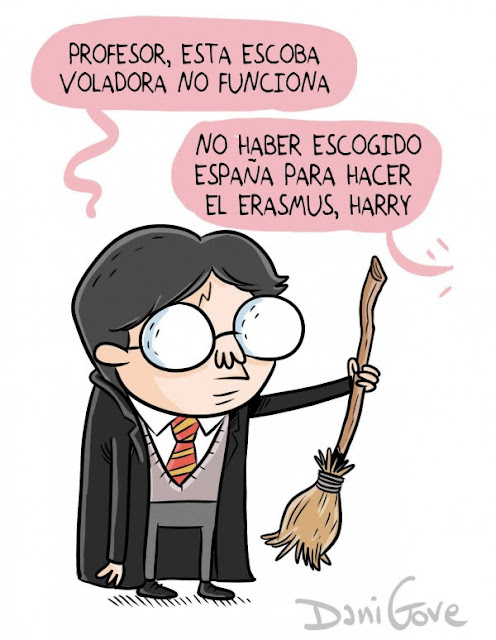 Meme de humor sobre Harry Potter