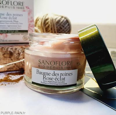 Blog PurpleRain - Baume des reines Rose Eclat - Sanoflore