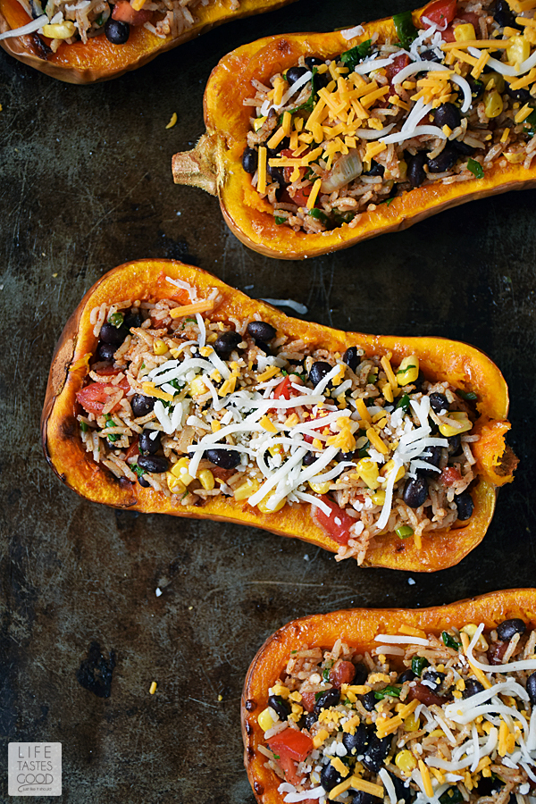 Stuffed Butternut Squash Recipe | by Life Tastes Good #LTGrecipes
