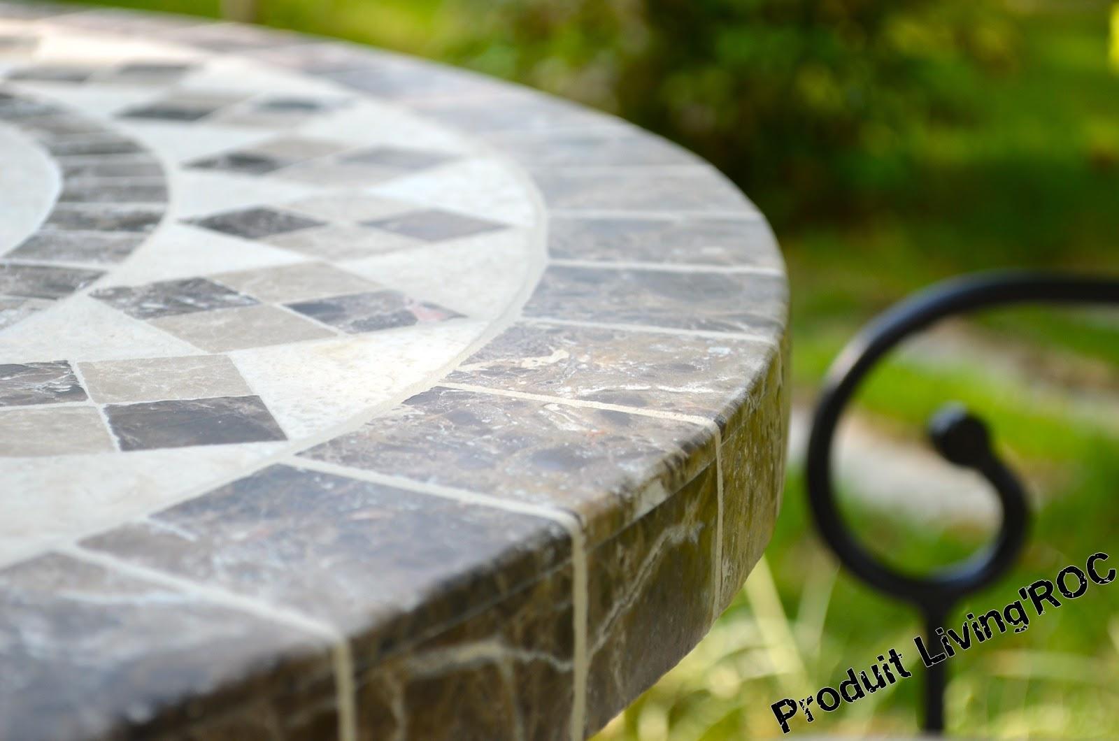Table De Jardin Mosaique Marbre | 11 Admirable Galerie Of Table ...