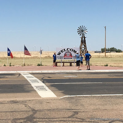 midpoint photo op on Route 66 Historic District in Adrian, Texas