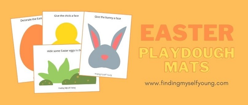 free printable easter playdough mats
