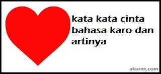 kata kata cinta bahasa karo dan artinya