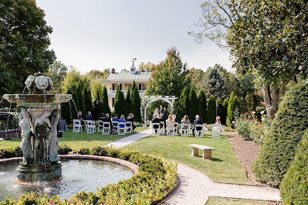 Antrim 1844 Fall Garden Wedding photographed by Heather Ryan Photography