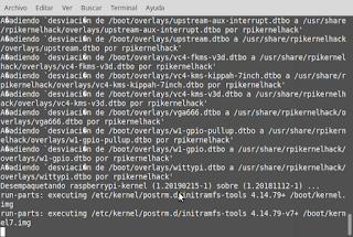 Actualizando paquetes instalados en Raspberry