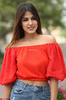 Rhea Chakraborty in Red Crop Top and Denim Shorts Spicy Pics ~  Exclusive 253.JPG