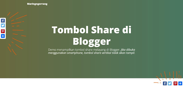 Membuat Tombol Share (Vertical atau Horizontal) Ringan di Blogger