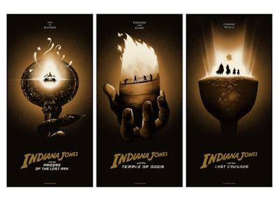 Indiana Jones Original Trilogy Screen Prints by Lyndon Willoughby x Bottleneck Gallery
