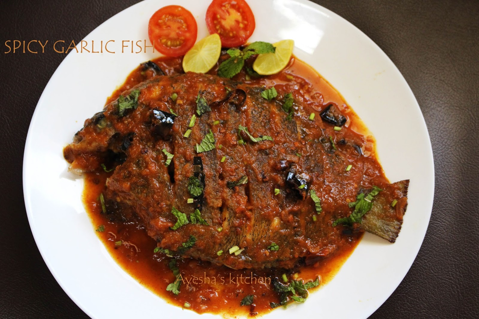 Fish recipes spicy garlic fish for Garlic sauce for fish