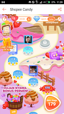 Misi Game Shopee Candy One Deal Time
