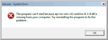 can't start because api-ms-win-crt