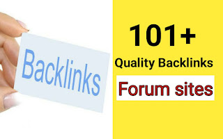 101+ instant approval do follow backlinks forum sites की list