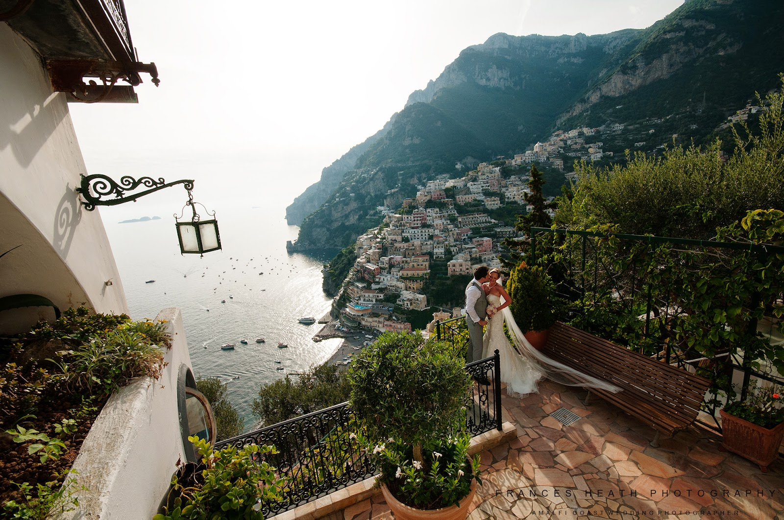 Wedding portraits taken in Positano Italy