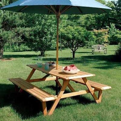 meja makan payung unik