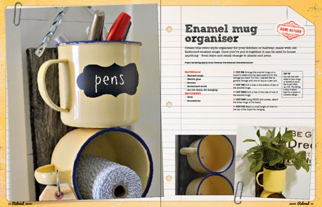 Enamel Mug Organizer and Reloved Magazine www.homeroad.net