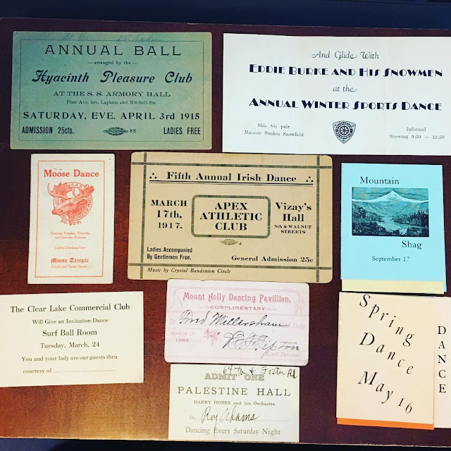Selection of Dance Program and Cards Collection on The Cedar Chest blog