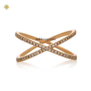 Nhẫn nữ kim cương thiết kế X