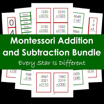 Montessori Addition and Subtraction Bundle