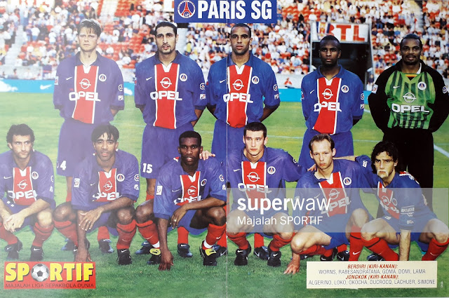 PARIS SAINT GERMAIN 1998 TEAM SQUAD