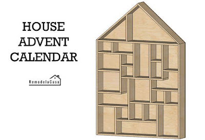 House advent calendar free plans