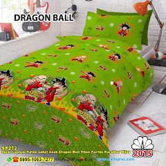 Sprei Custom Katun Lokal Anak Dragon Ball Hijau Kartun Karakter Hijau