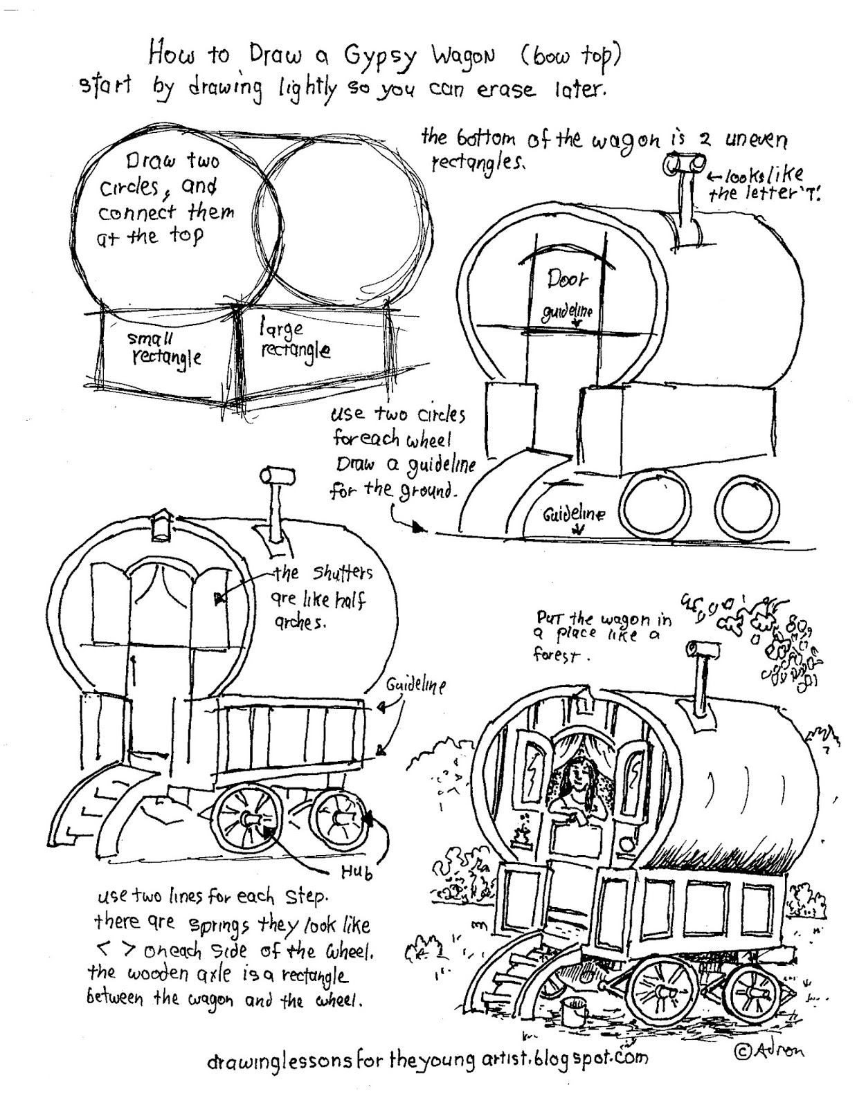 worksheet Draw The Other Half Of The Picture Worksheet how to draw worksheets for the young artist printable a gypsy wagon worksheet