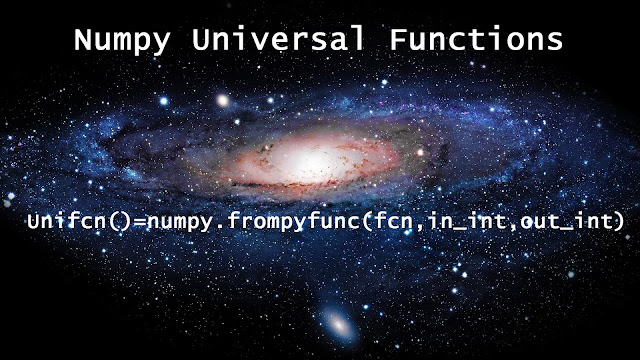 universal functions ufunc in Numpy