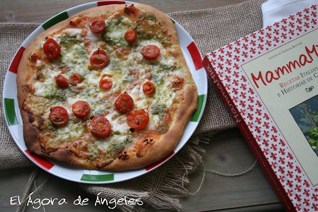 pizza caprese,pizza casera