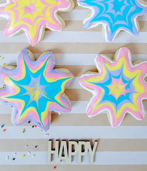 yummy tie dye sugar cookies