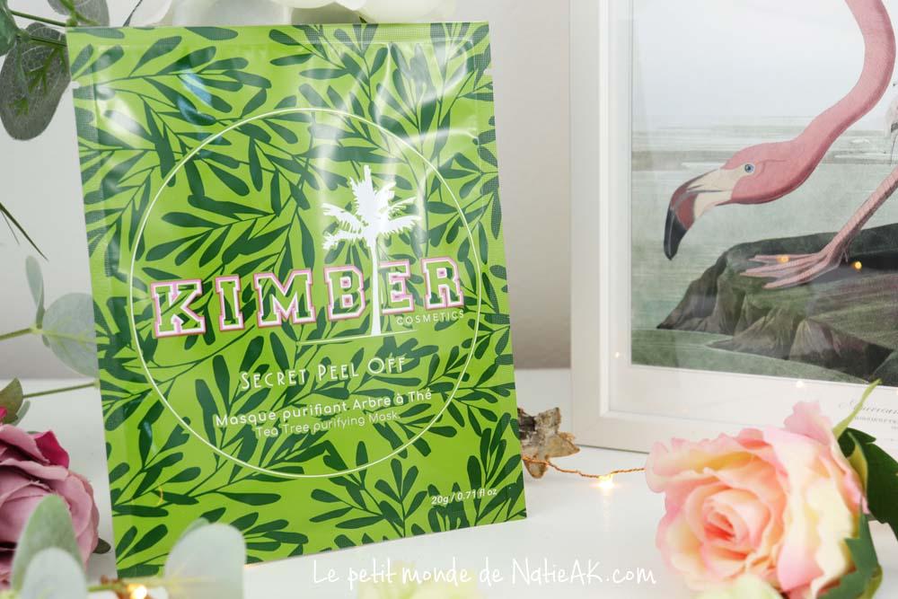 masque purifiant arbre à thé Kimber cosmetics
