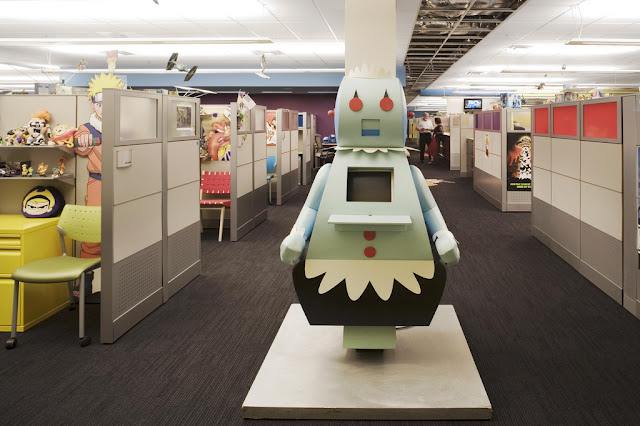 Green Pear Diaries, interiorismo, oficinas, Cartoon Network, Atlanta