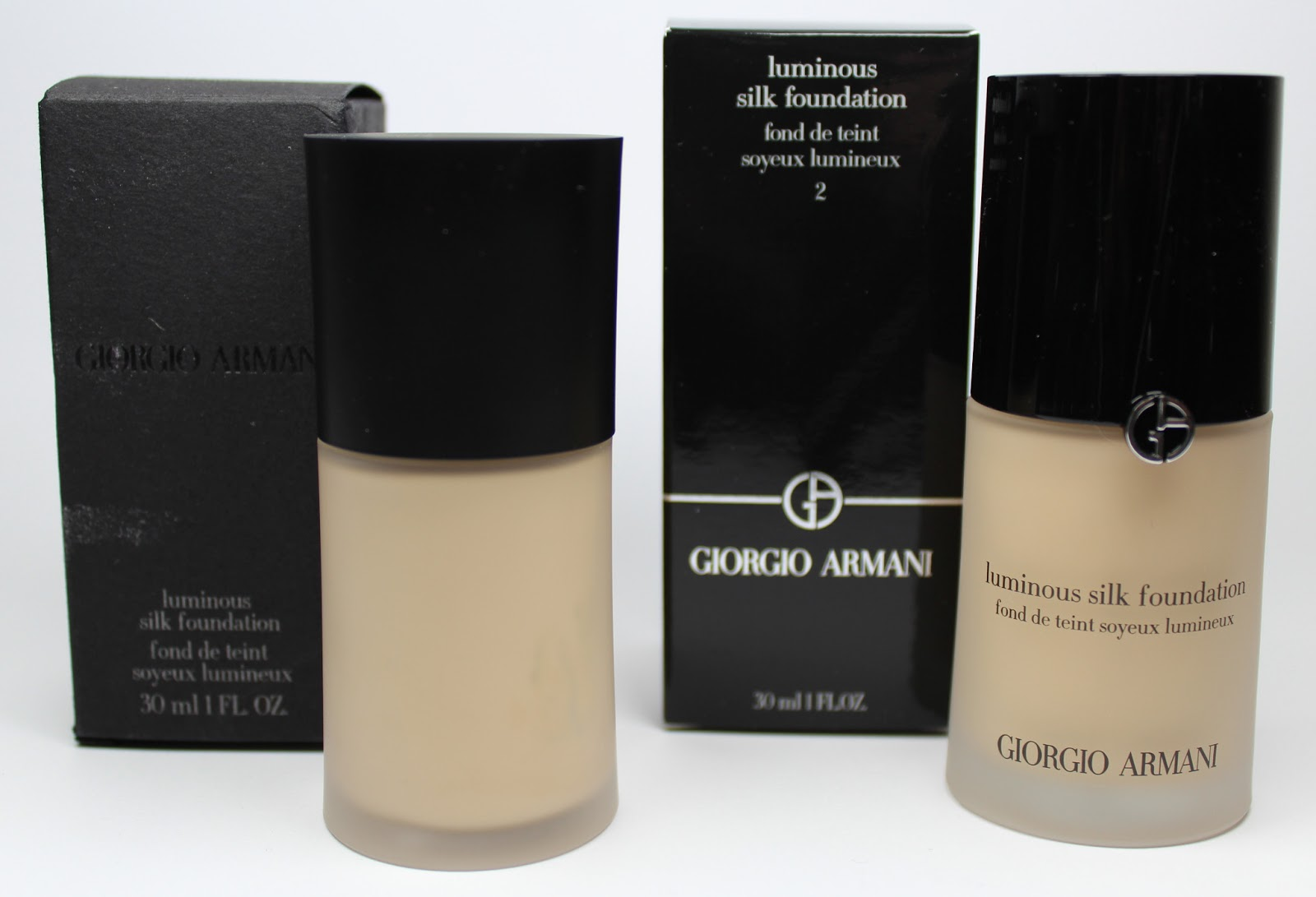 Neues Design für die Giorgio Armani Luminous Silk Foundation + Tages-Make-up mit Produktübersicht