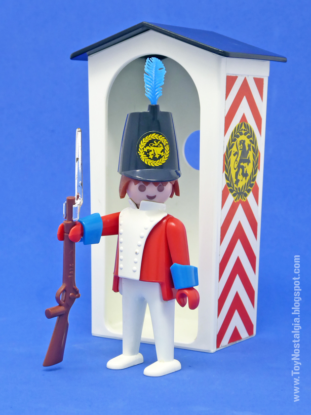 Playmobil 3544, soldado casaca roja montando guardia en garita  (Playmobil 3544 - redcoats)