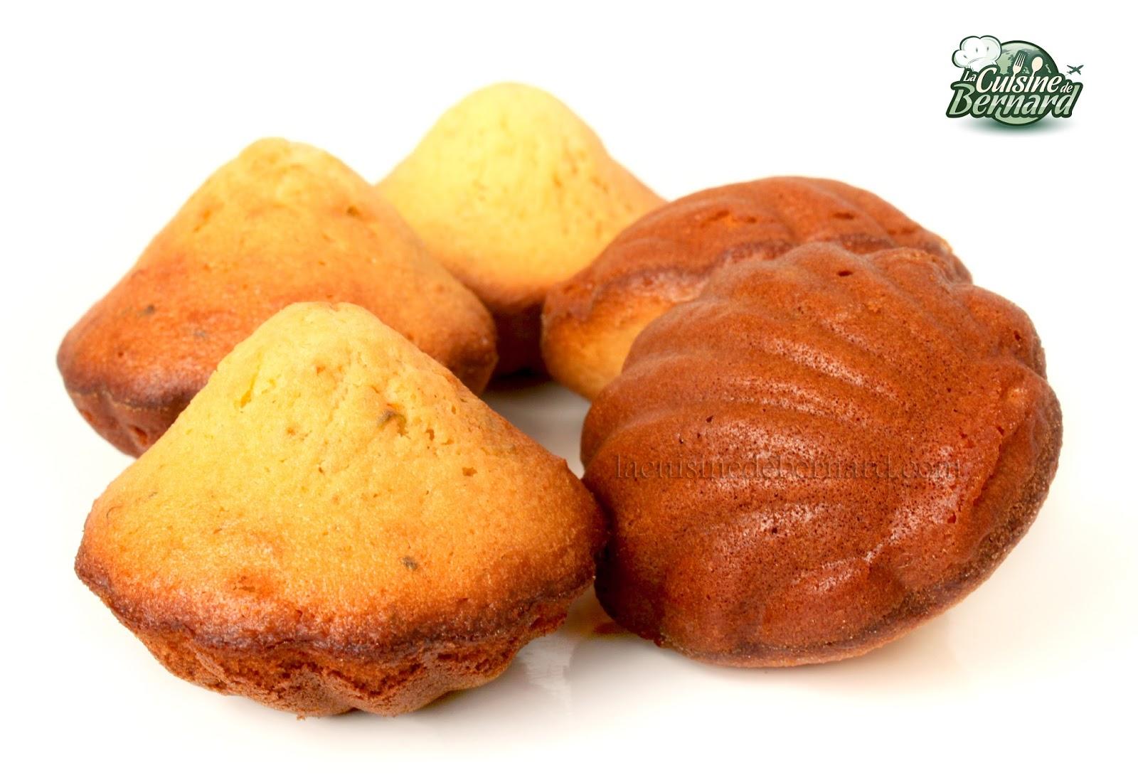 la cuisine de bernard : madeleines au miel, citron vert et gingembre