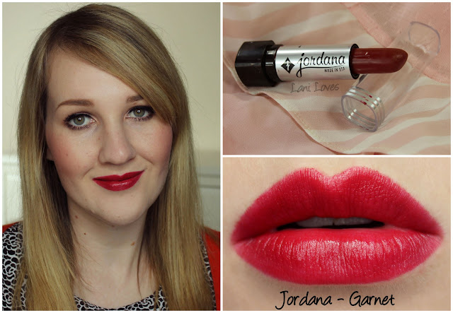 Jordana Garnet lipstick swatch