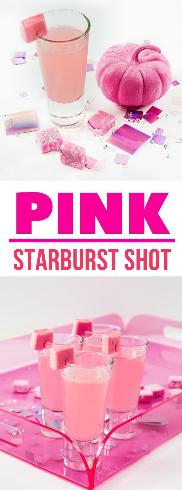 You Must Make This Pink Starburst Shot for Halloween Pregaming #drinks  #vodka