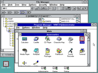 Windows NT 3.1 Display