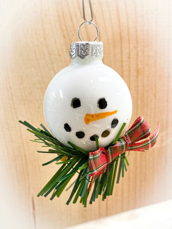 DIY Snowman Ornaments for Christmas