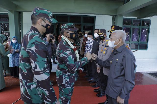 Bupati Bersama Forkopimda Asahan Menyambut Danrem 022/PT Yang Melakukan Kunker ke Makodim 0208/AS