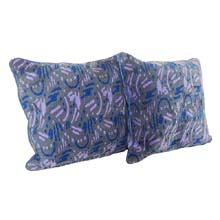 "Yuli Interior Purple Patterned 18"" Throw Pillows, Nigeria"