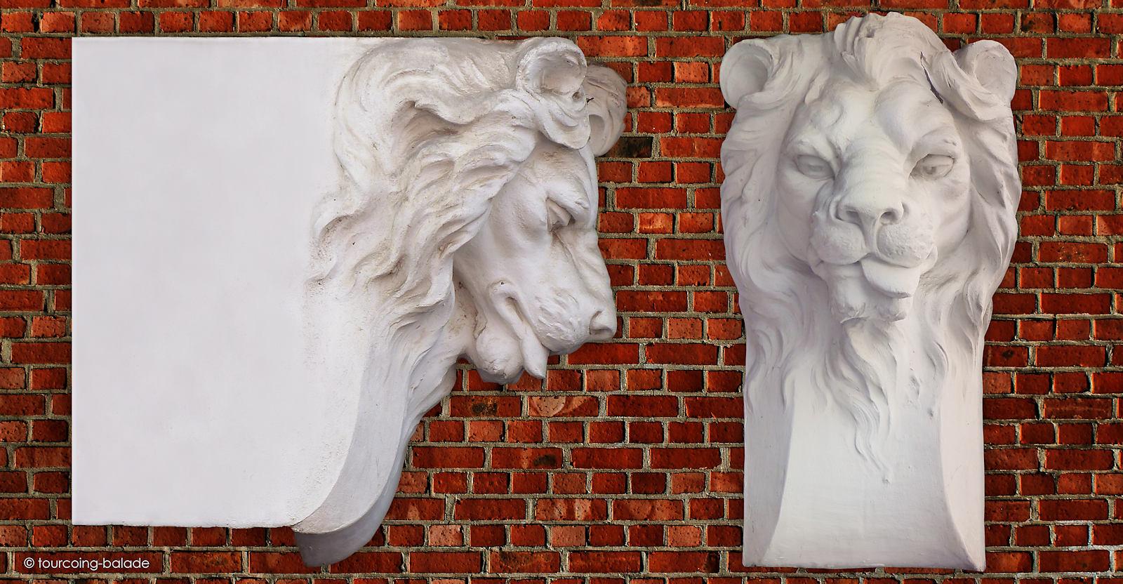 Sculpture du lion - Maison du Broutteux, Tourcoing