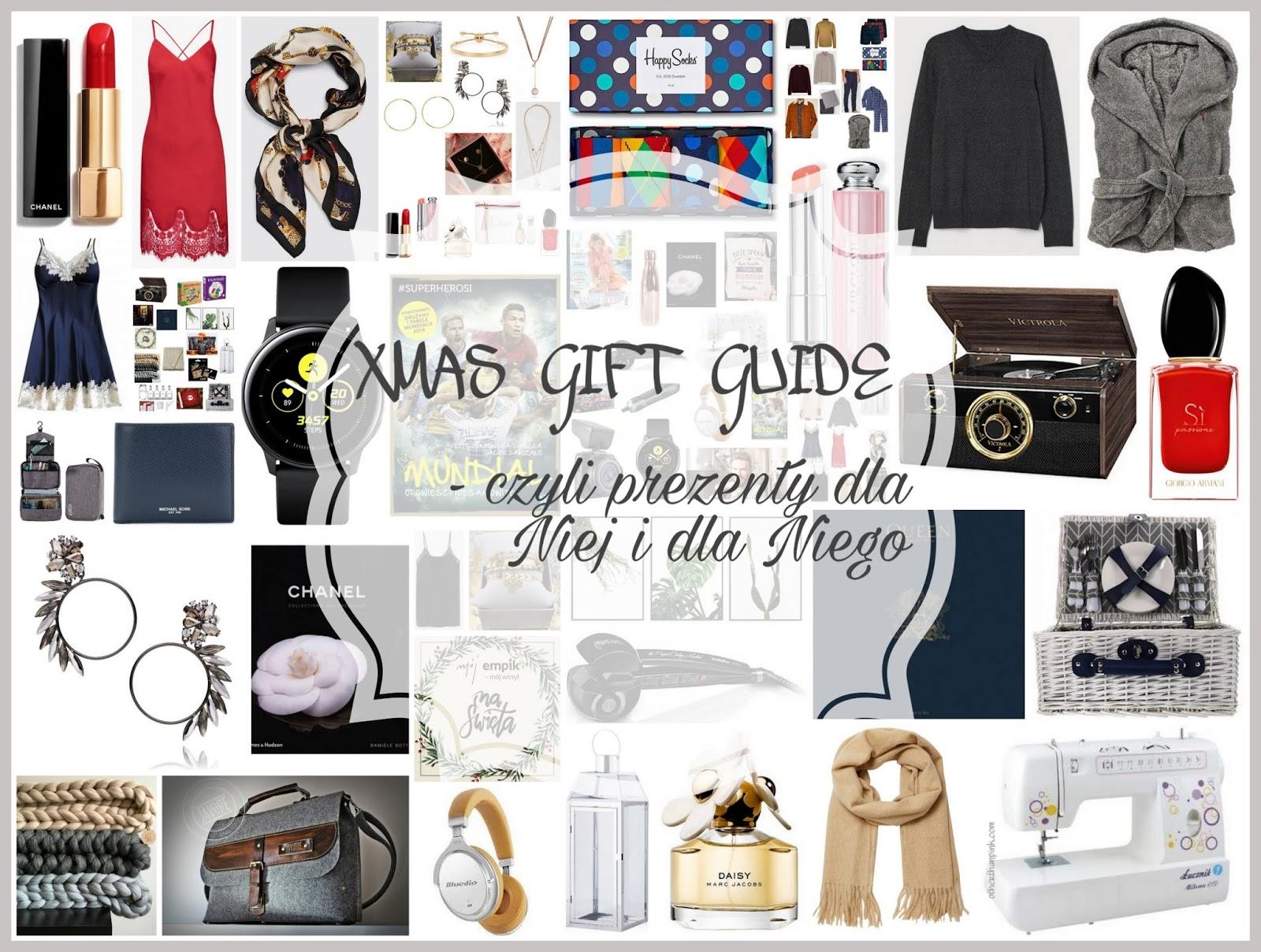 Xmas gift guide czyli ponad 70 pomysłów na prezenty dla Niej i dla Niego