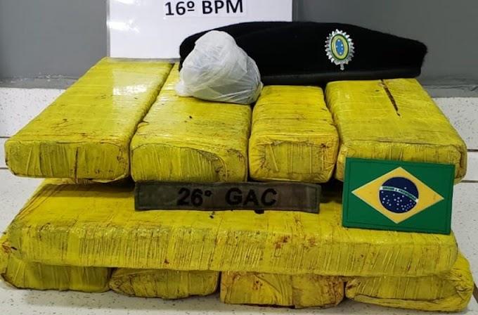 Laranjeiras do Sul: Exército e Polícia Militar 'derruba casa' de menor que transportava maconha e cocaína no 'busão '