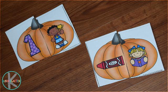 fall pumpkin homophones puzzles