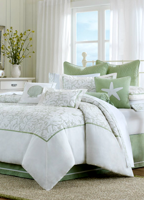green coastal bedding