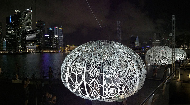 The Urchins: A Crochet Installation by Choi+Shine Architects