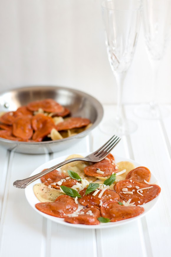 Ravioli Hearts with Brown Butter Sauce - La Cuisine d'Helene
